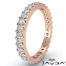 Classic Diamond Prong Set Eternity Women's Wedding Band 14k Rose Gold Ring  (1.25Ct. tw.)