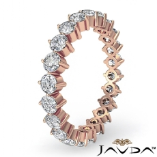 Round Prong Diamond Wedding Eternity Band Women's Ring in 18k Rose Gold  (1.4Ct. tw.)