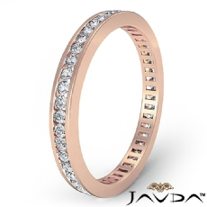 Women's Eternity Band Channel Set Diamond Engagement Ring 18k Rose Gold  (0.7Ct. tw.)