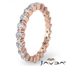 Women's Eternity Wedding Band Round Diamond Shared Prong Ring 14k Rose Gold  (0.7Ct. tw.)