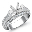 1.4Ct Diamond Women Engagement Ring Setting 14k White Gold Round Semi Mount - javda.com