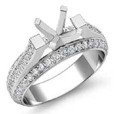 Diamond Women Engagement Ring Setting Platinum 950 Round Semi Mount (1.4Ct. tw.)