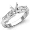 0.4Ct Diamond Engagement Womens Ring Princess Semi Mount Setting 14k White Gold - javda.com