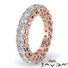 Prong Set Diamond Heart Eternity Wedding Ring 14k Rose Gold Women's Band  (3Ct. tw.)