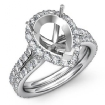1.3Ct Pear Shape Semi Mount Diamond Engagement Ring 14k White Gold Halo Setting - javda.com