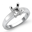 Solitaire Diamond Women's Engagement Ring 14k White Gold Princess Semi Mount - javda.com