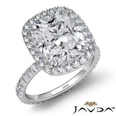 Cushion diamond  Ring in 14k Gold White