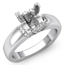 0.35 Ct Diamond Classic Solitaire Engagement Ring Setting 14K Wh Gold Semi Mount