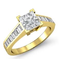 Princess diamond  Ring in 18k Gold Yellow