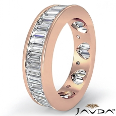Baguette Channel Set Diamond Womens Eternity Wedding Band 14k Rose Gold Ring  (3.5Ct. tw.)