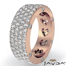 Round Diamond Womens Wedding Band Eternity Engagement Ring 14k Rose Gold  (3.5Ct. tw.)
