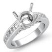 0.5Ct Round Diamond Classic Engagement Ring Channel Set Semi Mount 14k White Gold - javda.com