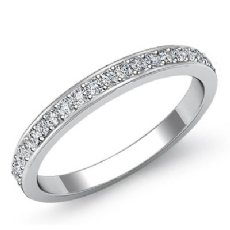 0.55Ct Round Diamond Half wedding Band Matching Set 14k White Gold