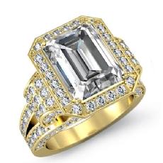 Emerald diamond  Ring in 14k Gold Yellow