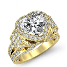 Heart diamond  Ring in 18k Gold Yellow