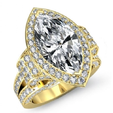 Marquise diamond  Ring in 14k Gold Yellow