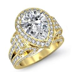 Pear diamond  Ring in 18k Gold Yellow