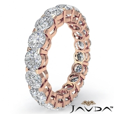 Round Diamond Eternity Wedding Band Anniversary Women's Ring 14k Rose Gold  (3.6Ct. tw.)