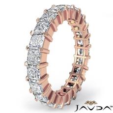 Wedding Band Womens Eternity Ring 14k Rose Gold Prong Set Princess Diamond  (4Ct. tw.)