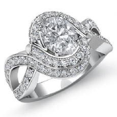 Oval diamond  Ring in Platinum 950