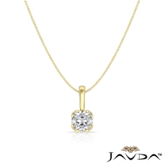 Filigree Basket Solitaire Cushion diamond  Pendant in 18k Gold Yellow