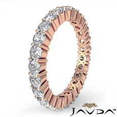 Women's Shared Prong Diamond Ring Eternity Wedding Band 14k Rose Gold  (1.5Ct. tw.)