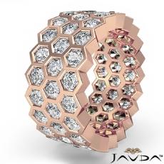 Eternity Ring Women's Wedding Band 14k Rose Gold Round Bezel Set Diamond  (5.5Ct. tw.)