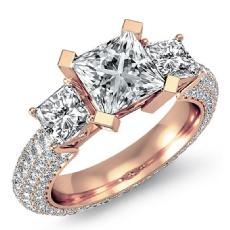 Princess diamond  Ring in 18k Rose Gold