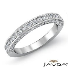 1.00Ct Round Diamond Half wedding Band Matching Set 14k White Gold