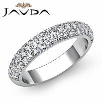 1.Ct Round Pave Diamond Wedding Band 14k White Gold