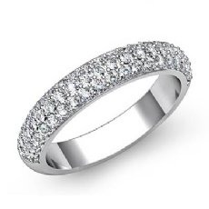 Round Pave Diamond Wedding Band Platinum 950 (1Ct. tw.)