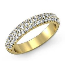 Round Pave Diamond Wedding Band 14k Gold Yellow (1Ct. tw.)