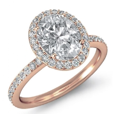 Oval diamond  Ring in 18k Rose Gold