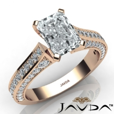 Cathedral 4 Prong Peg Head diamond Ring 18k Rose Gold