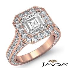 Asscher diamond  Ring in 18k Rose Gold