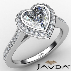 Heart diamond  Ring in 14k Gold White