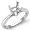 <Gram> Round Diamond Solitaire Engagement 4 Prong Setting Ring 14k White Gold Semi Mount - javda.com