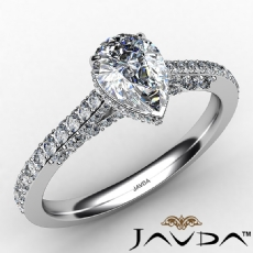 Circa Halo Micro Pave Bridge diamond Ring 14k Gold White