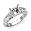 0.25Ct Round Diamond Engagement Ring Side Stone Setting 14k White Gold Semi Mount - javda.com