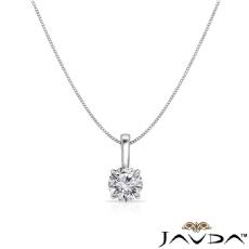 Round diamond  Pendant in 14k Gold White
