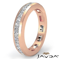 Channel Princess Diamond Wedding Ring Eternity Women Band 14k Rose Gold  (1.3Ct. tw.)