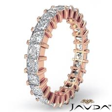 Prong Set Princess Diamond Ring Womens Eternity Wedding Band 14k Rose Gold  (3Ct. tw.)