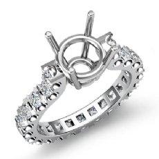 1.40Ct Round Diamond Antique Engagement Ring Prong Setting 14K W Gold Semi Mount