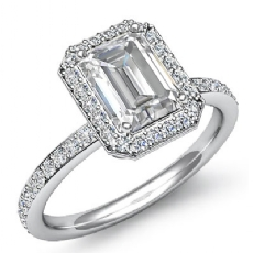 Emerald diamond  valentine's deals in 14k Gold White