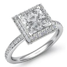 Princess diamond  Ring in 14k Gold White