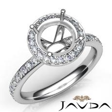 0.60 Ct Diamond Vintage Engagement Ring 14k White Gold Halo Setting Semi Mount