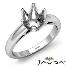 4.5g Diamond Solitaire Engagement Setting 14k White Gold 6 Prong Semi Mount Ring