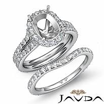 1.80Ct Cushion Diamond Semi Mount Engagement Wedding Ring Bridal Set 14k Wh Gold