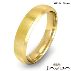 Dome Men's Wedding Band 18k Gold Yellow Beveled Edge Solid Ring 5mm 6.5g 8