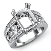 1.25Ct Princess Round Diamond Engagement Ring Radiant Semi Mount 14k White Gold - javda.com